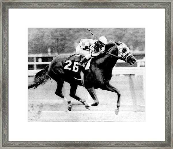 Secretariat Vintage Horse Racing #12 Framed Print by Retro Images Archive
