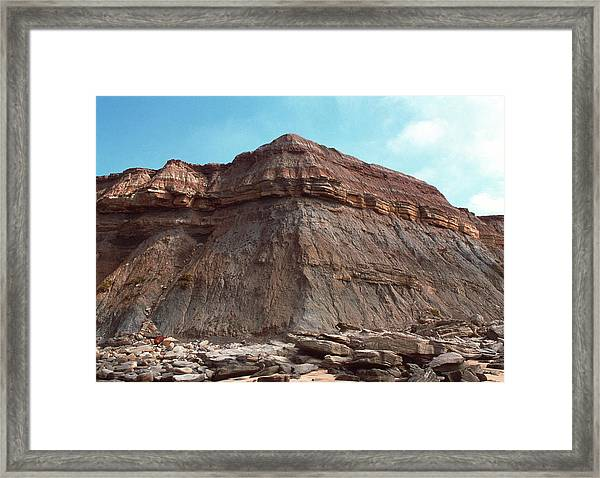 Sedimentary Rock Framed Print