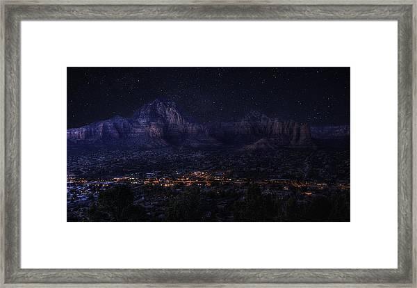 Sedona By Night Framed Print