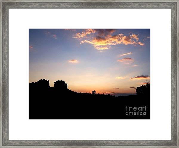 Sedona Dusk Framed Print
