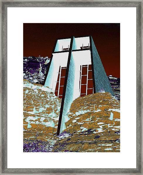 Sedona Rock Church Framed Print