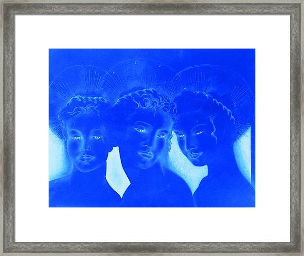 See Love Hear Love Speak Love Framed Print