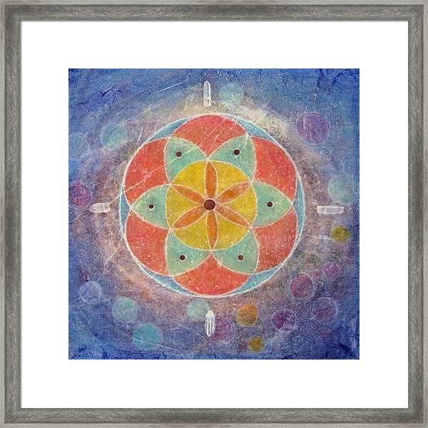 Seed Of Life Mandala Framed Print
