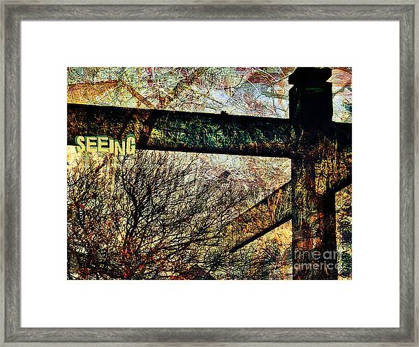 Seeing Framed Print by Currie Silver