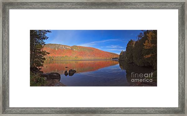 Seeing Red At Jobs Pond Framed Print