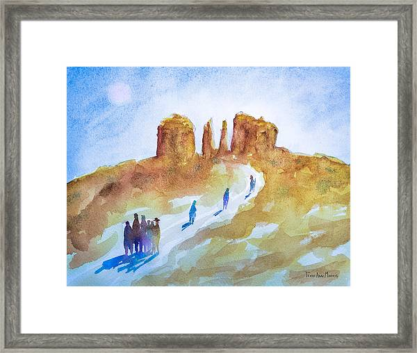 Seekers At Cathedral Rock Framed Print