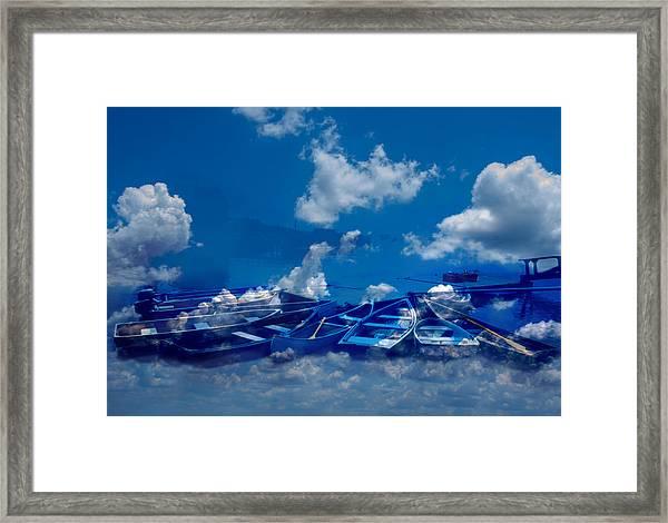 Seeking Harbor Framed Print