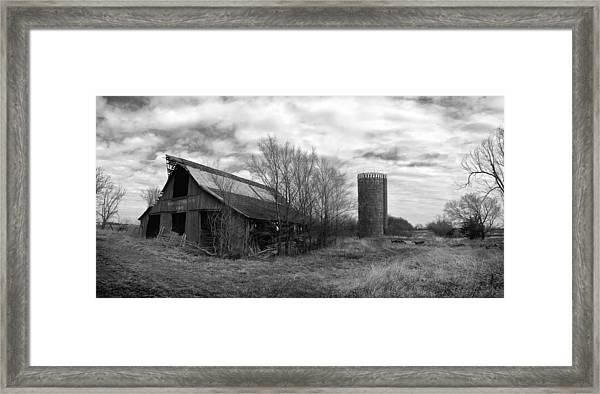 Seen Better Days Black And White Framed Print