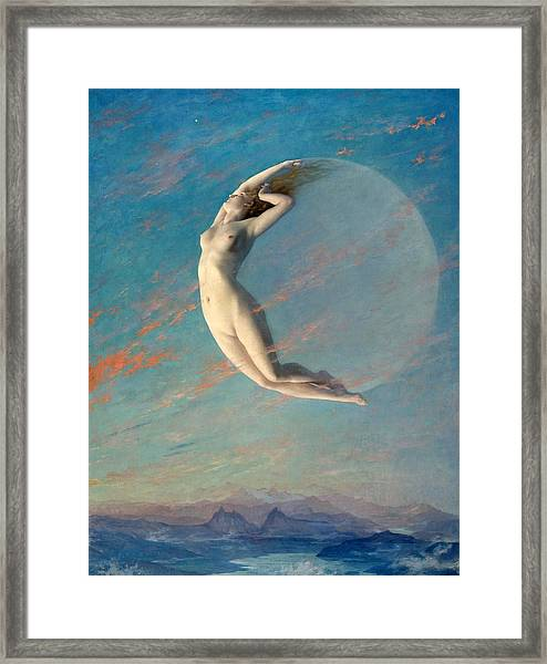 Framed Print featuring the painting Selene by Albert Aublet