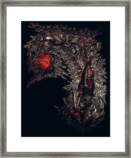 Framed Print featuring the painting Self Signatures Until The Final Darkening by R Johnson