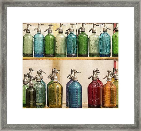 Seltzer Bottles Framed Print by Ugur Erkmen