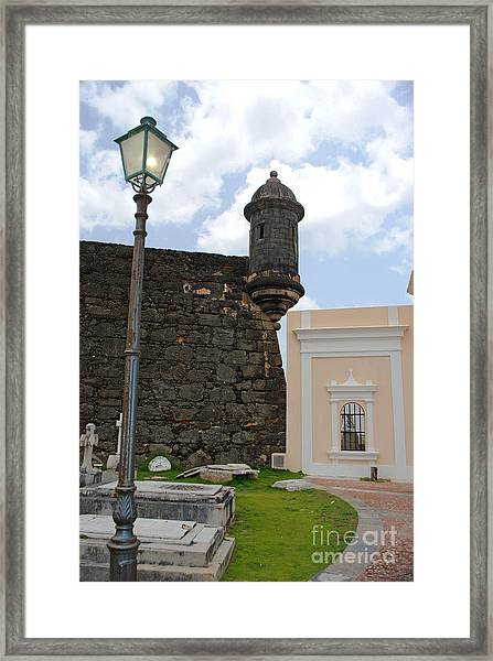 Sentinel And Cemetary Framed Print
