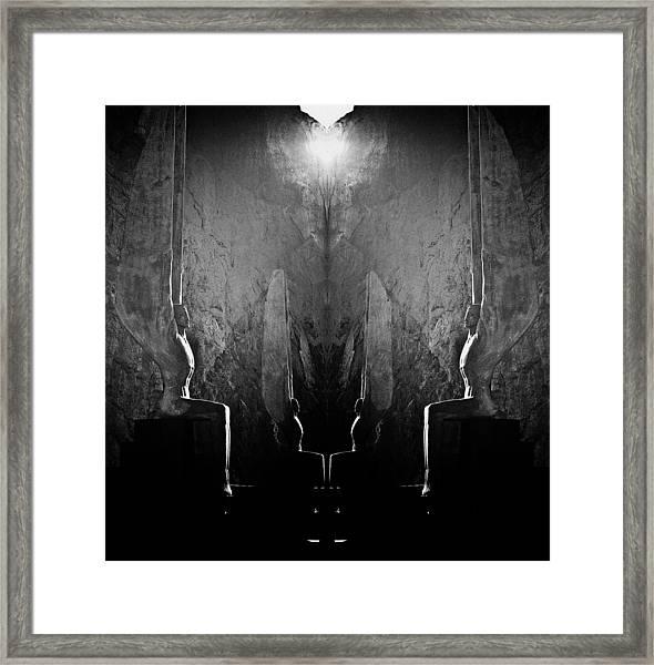 Sentries At Madre Vooh Framed Print