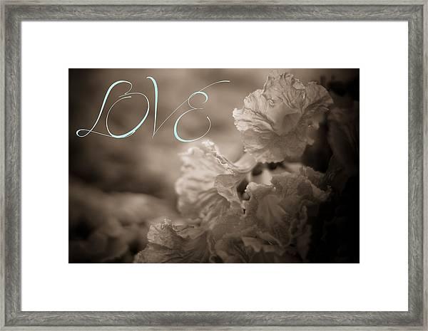 Sepia Love Framed Print