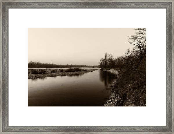 Sepia River Framed Print