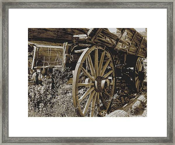 Framed Print featuring the photograph Sepia Wagon by David Armstrong