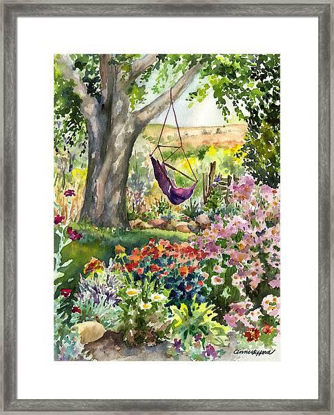 September Garden Framed Print