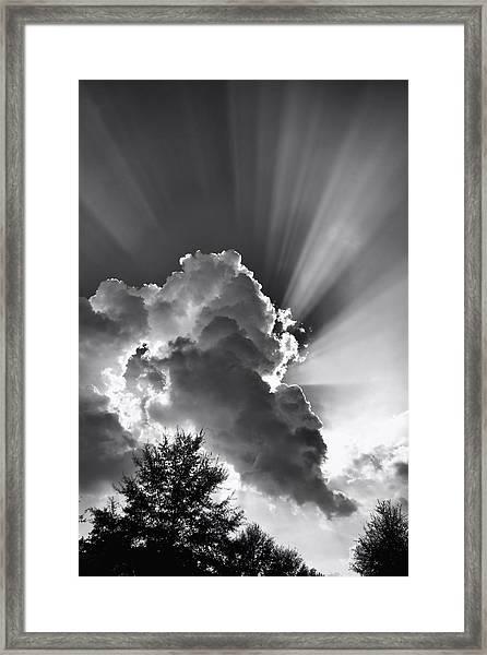 September Rays Framed Print