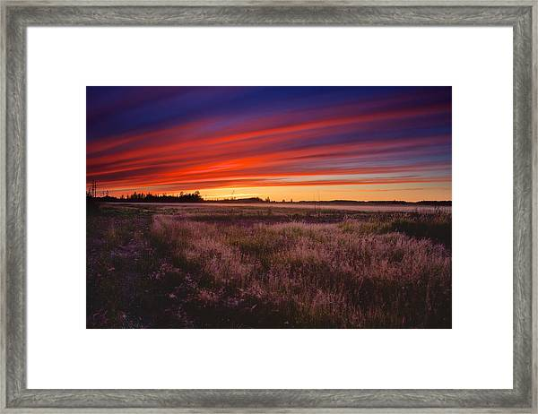 September Sunset North Pole Alaska Framed Print