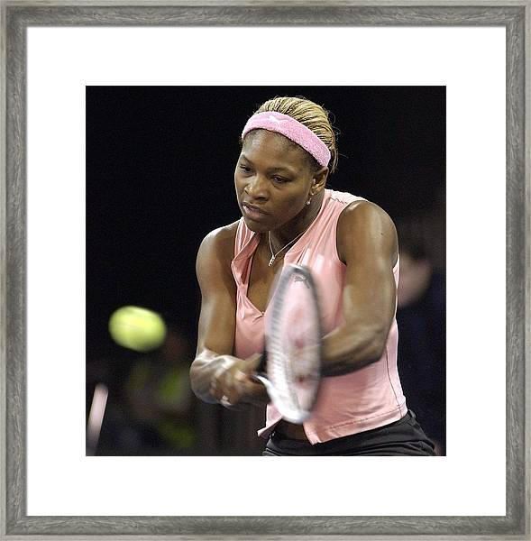 Serena Williams Of The Usa  Framed Print by Jamie McDonald