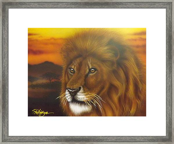 Serengeti King Framed Print