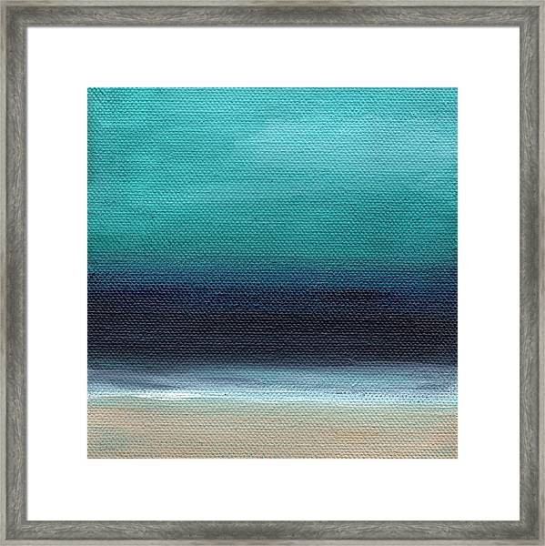 Serenity- Abstract Landscape Framed Print