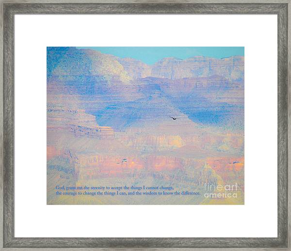 Serenity At The South Rim Framed Print