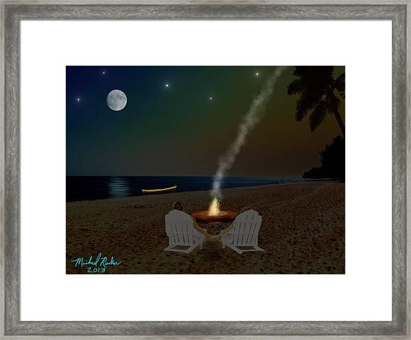 Serenity On The Beach Framed Print