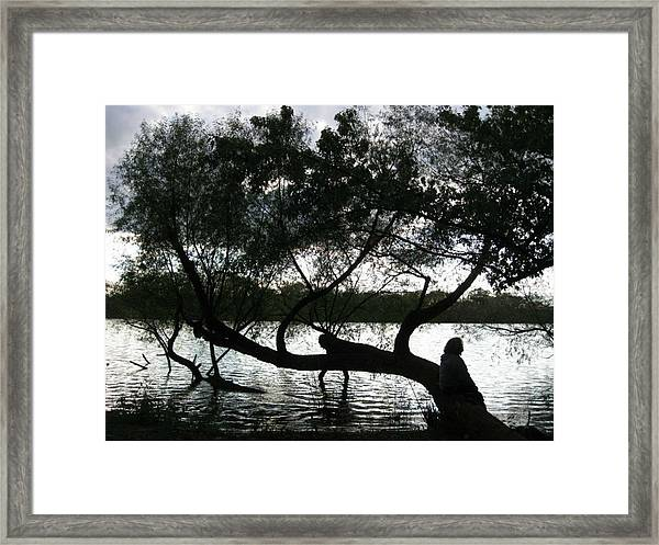 Serenity On The River Framed Print
