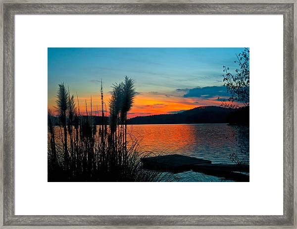 Serenity Orange Framed Print