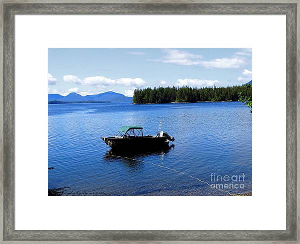 Serenity Outside Of Ketchikan Ak Framed Print