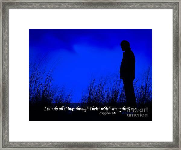 Serenity - Philippians 4 Framed Print