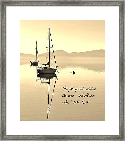 Serenity Scripture Inspirational Quote Framed Print