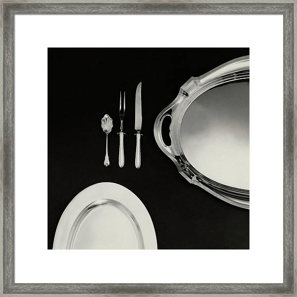 Serving Dishes And Utensils Framed Print