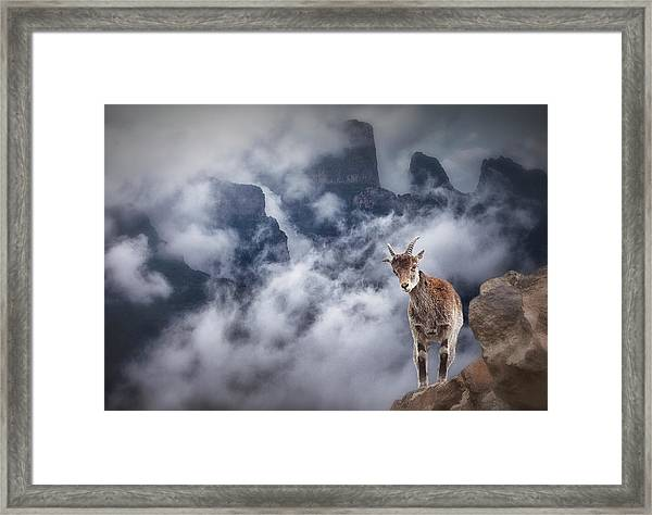 Sesmien Mountains Framed Print by Marc Apers