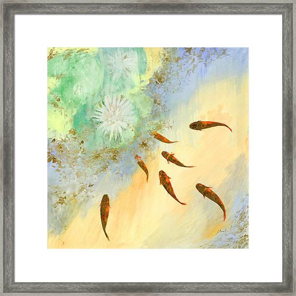 Sette Pesciolini Verdi Framed Print