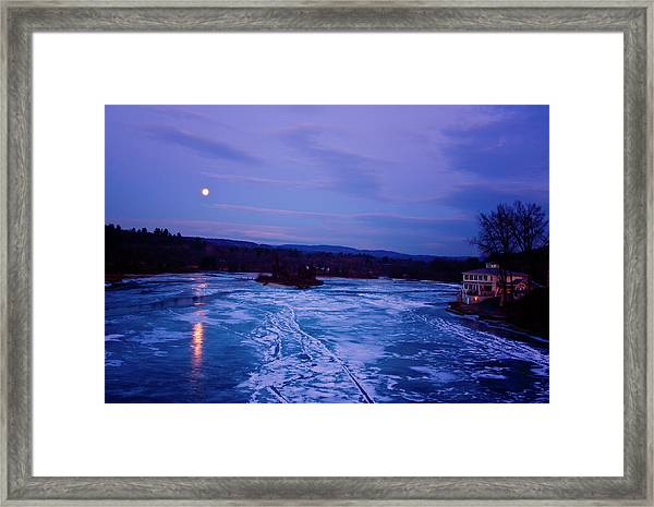Setting Moon Brattleboro Framed Print