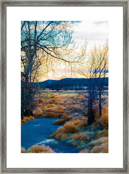 Setting Sun At Rocky Mountain Arsenal_2 Framed Print