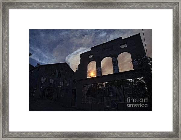 Setting Sun Through La Victoria Framed Print