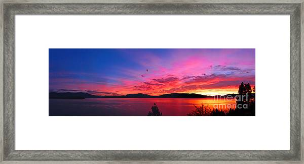 Setting The Night On Fire Framed Print