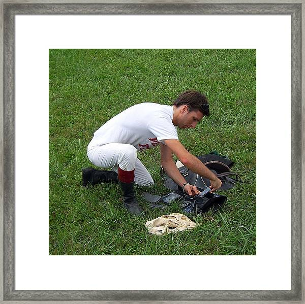 Setting The Weights Framed Print