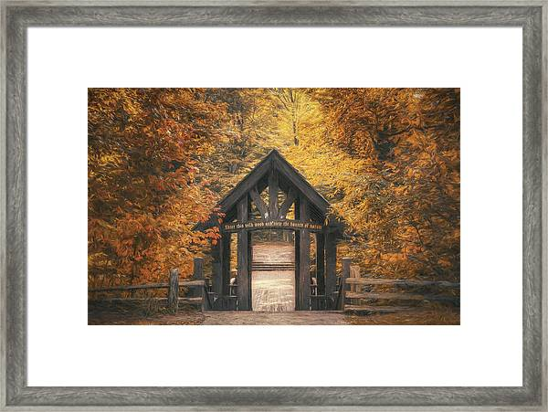 Seven Bridges Trail Head Framed Print
