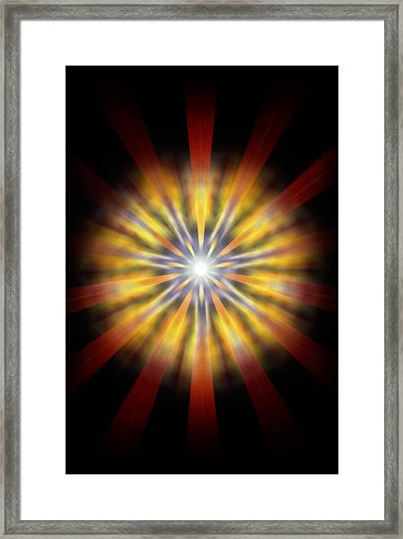 Seven Sistars Of Light Framed Print