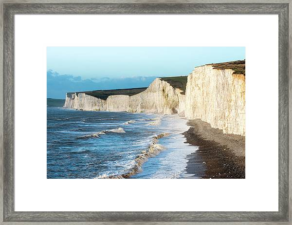Seven Sisters From Birling Gap Framed Print