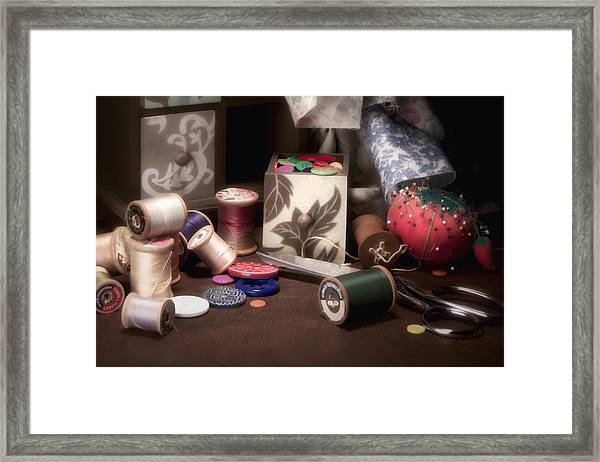 Sewing Notions II Framed Print