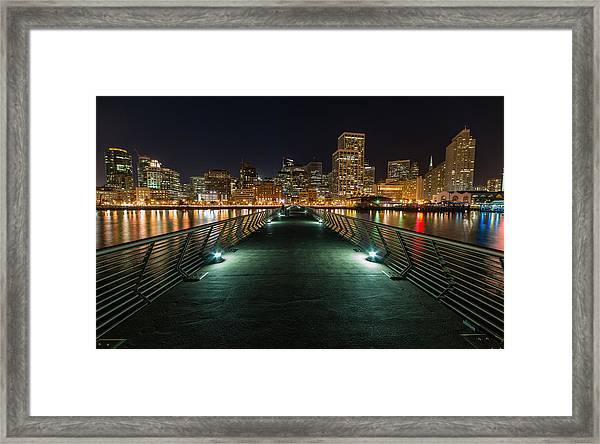 Sf Pier 14 Framed Print