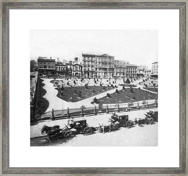 Sf Portsmouth Square Framed Print