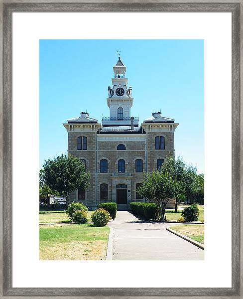 Shackelford County Courthouse Framed Print