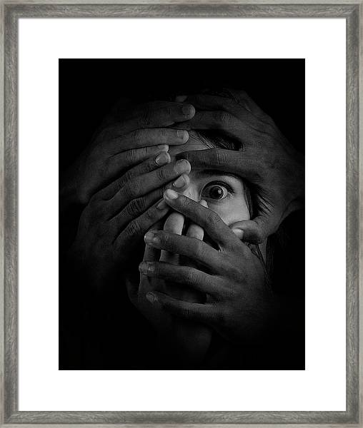 Shackles Of Fear Framed Print by Heru Agustiana