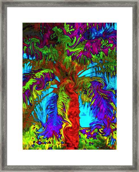 Shade Trees On Venus Framed Print